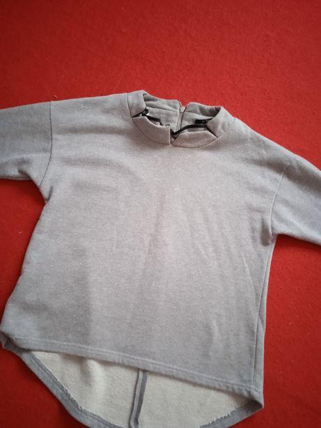 Siwy sweterek damski