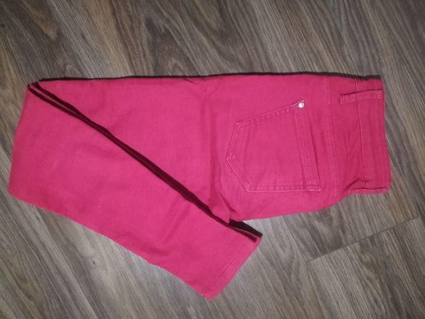 Piekne, amarantowe spodnie Croop r. 34