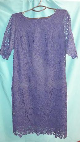 Платье крупное кружево