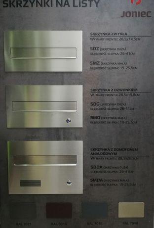 Skrzynki na listy z domofonem ogrodzenie videofon dzwonek joniec