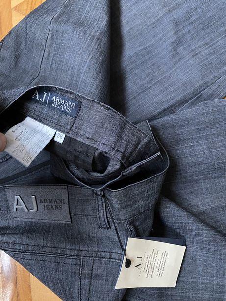 Nowe spodnie Armani Jeans pas 92 cm prosty krój EA7