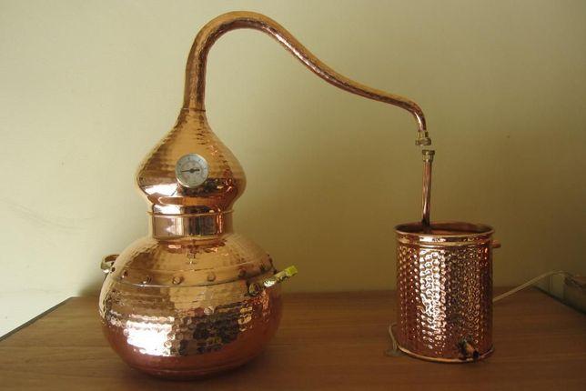 Alambique de cobre 7 litros - novo