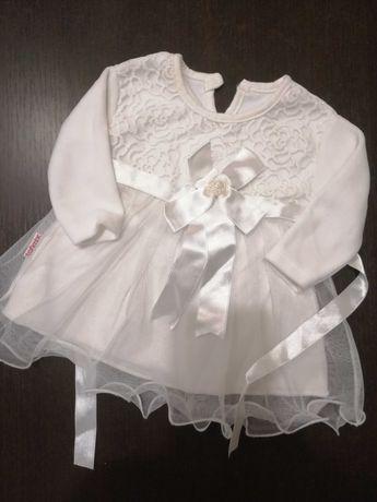 Sukienka biała do chrztu 68