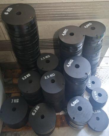 Obciążenie stalowe  siłownia krążki od 2-7kg