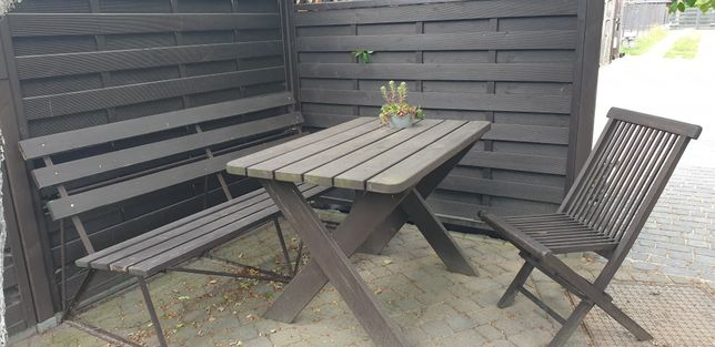 Stół ogrodowy drewniany 120  cm