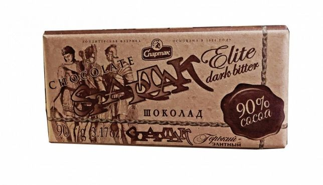 Шоколад Спартак 90,72,56, %