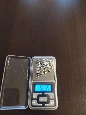 Sprzedam srebrny łańcuszek (pancerka) próba 925 o wadze 56 g.