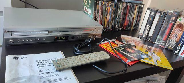 Combo( DVD + magnetowid )LG V8816 + 43 Oryginalnych Filmów DVD+10 VHS