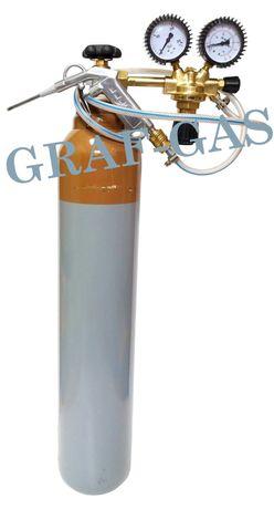 Butla z helem helowa gaz hel 8 litrów reduktor wąż pistolet zestaw