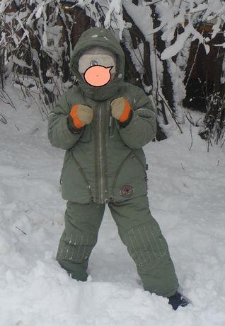 Зимний теплый комбинезон-тройка на мальчика на 5-7 лет