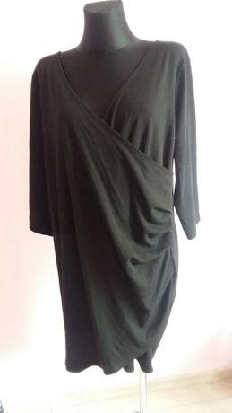 Czarna elastyczna sukienka ciążowa do karmienia elegancka H&M Mama XL