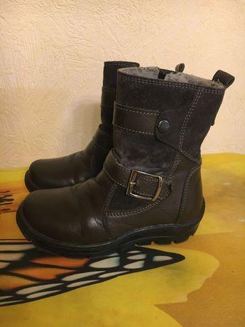 Зимние сапожки, кожаные зимние ботинки