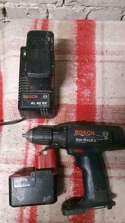 Ładowarka Bosch +wkrętarka +2 akumulatorki
