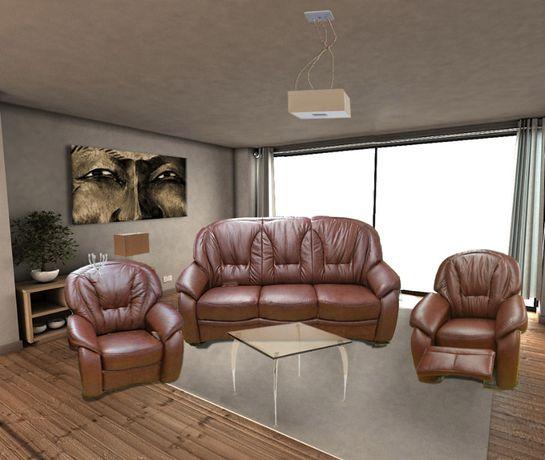 Sofa 3relax+1+1relax Skóra naturalna w całości!