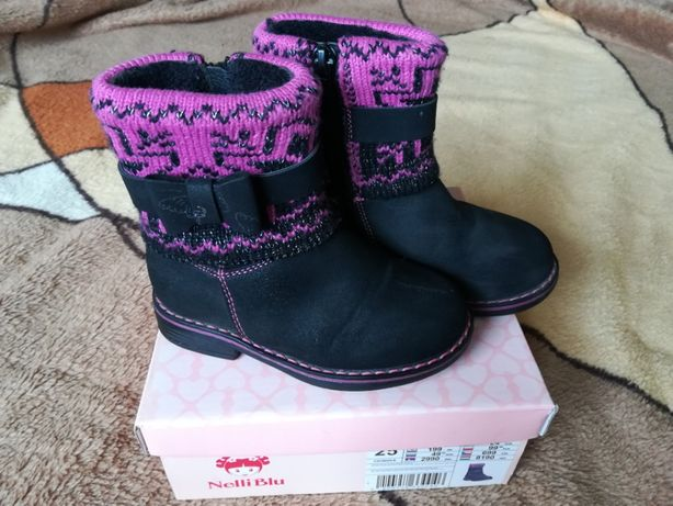 Kozaki dziewczęce, buty zimowe ocieplane, r. 25