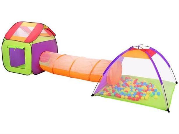 Namiot dla dzieci DOMEK + tunel + 200 szt piłek