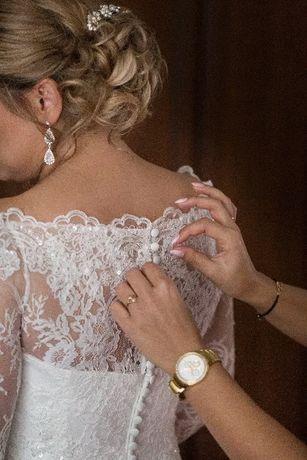 Piękna suknia ślubna koronka. Super stan!
