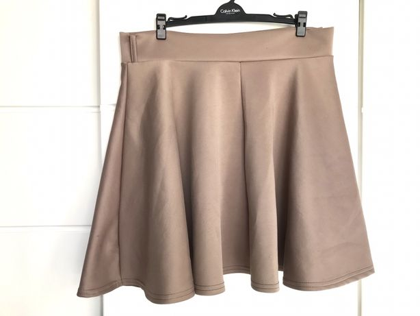 Spódniczka spódnica beż brąz