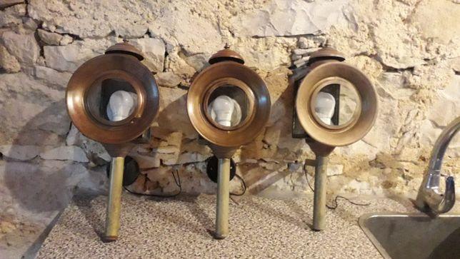 Candeeiros Antigos Restaurados - Cobre