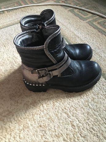 Демисезонные ботинки на девочку, кожаные K.Pafi