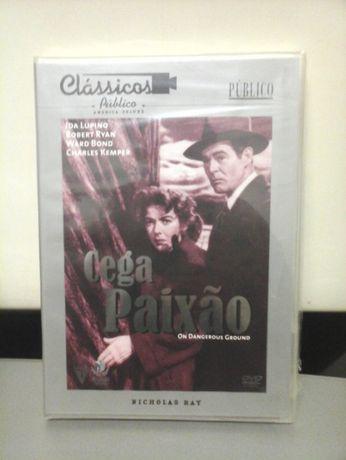 Dvd CEGA PAIXÃO 1951 SELADO NOVO Ida Lupino Robert Ryan Filme ENTRG JÁ