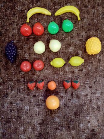 Zestaw plastikowych owoców - 20 sztuk