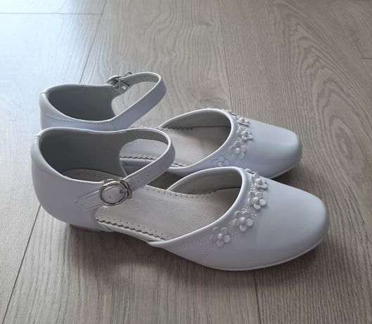 Buty Baleriny komunijne dla dziewczynki-rozmiar: 38, dł.wkładki: 24 cm