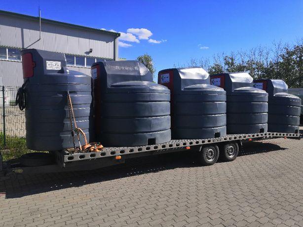 Zbiornik dwupłaszczowy na ropę paliwo olej napędowy 2500L 5000L 9000L