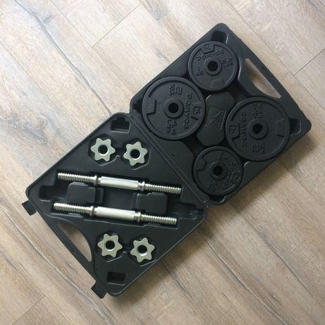 Zestaw hantli żeliwnych do treningu siłowego 20 kg (2x10 kg)