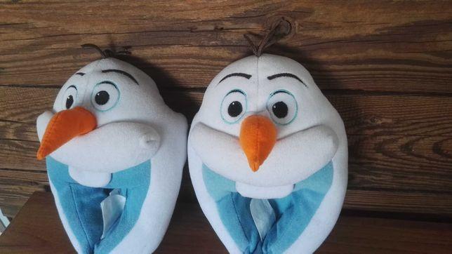 Ciepłe Kapcie H&M Frozen bałwanki Olafy ciepłe bambosze 26/27 papcie