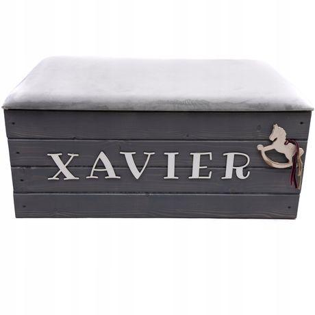 Pufa drewniana skrzynia kufer pojemnik na zabawki i inne