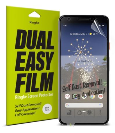 Защитная плёнка Ringke Dual Easy Film (2шт) для Google Pixel 3a XL