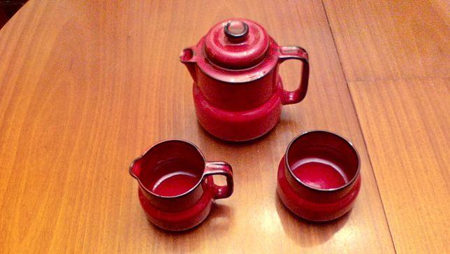 Conjunto Cerâmica Vintage, Bule, Açucareiro, Leite