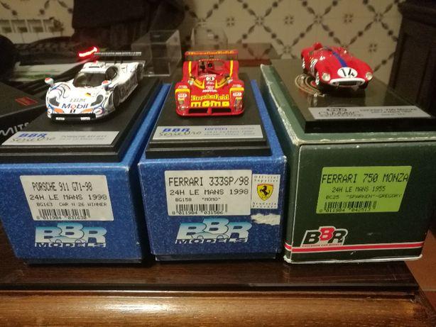 Miniaturas Ferrari e Porsche Le Mans