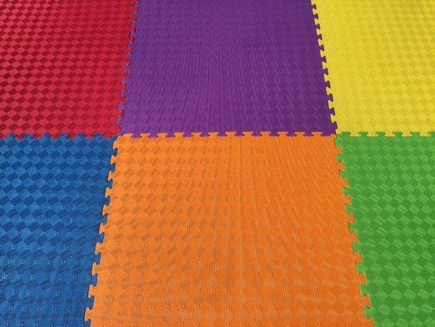 Детские маты EVA 1х1м - Мягкое напольное покрытие в детскую комнату!