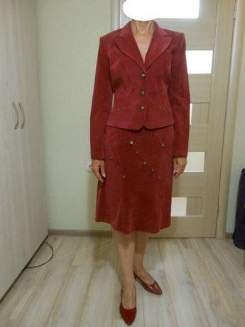 новый Женский вельветовый костюм темно-красный красный Беларусь