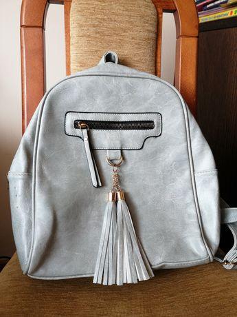 Pleczaczek nowy plecak mini szary