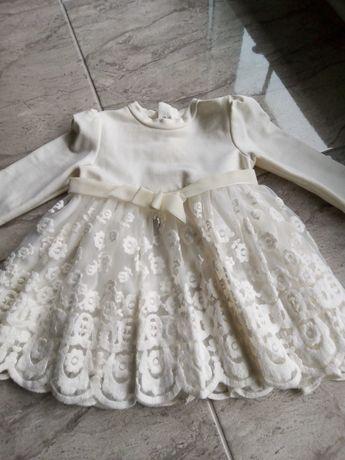 Sprzedam komplet ubranka dla dziewczynki do chrztu firmy Mayoral