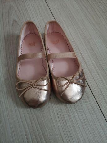 Złote balerinki z H&M rozm. 25