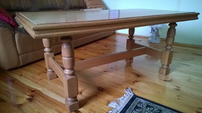 Stół stolik ława dębowa, z drewna, drewniana, solidna