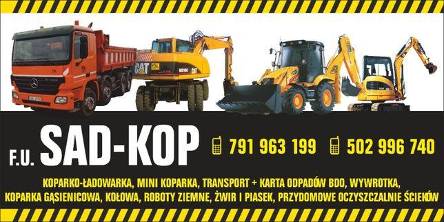 transport wywrotką 20t 15 piasek gruz usługi koparko ładowarka koparka