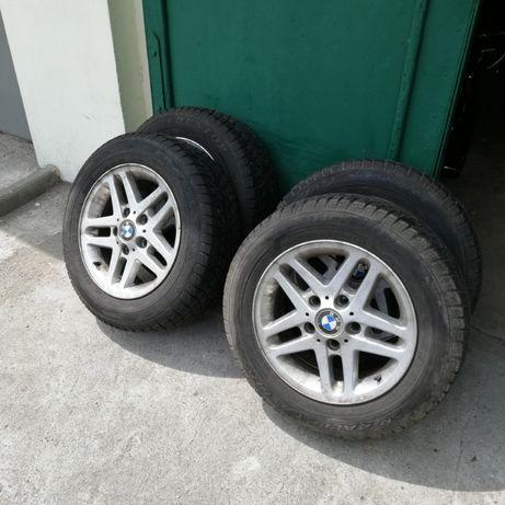 Alufelgi Opony Zimowe 5x120 R15 195/65 Dunlop BMW e46 e36 itd
