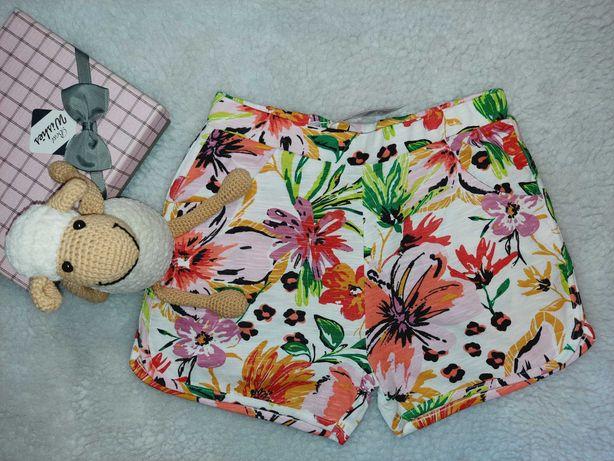 Яркие цветочные  шорты  от Nutmeg  для девочки 9-10 лет
