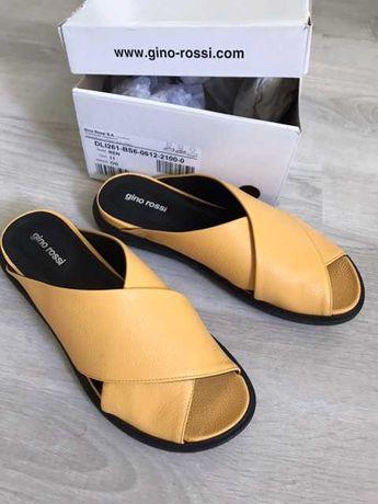 Шлепанцы сандалии кожаные женские Gino Rossi 36 размер