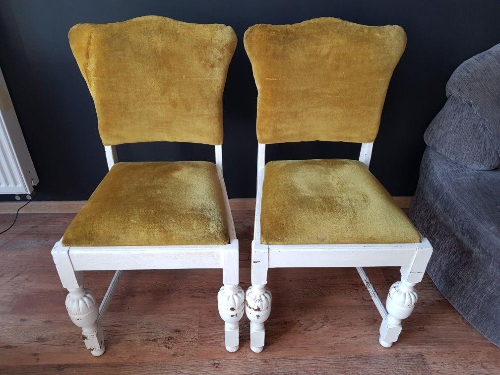 Dębowe 4 krzesła do renowacji, do odnowienia, krzesło dębowe