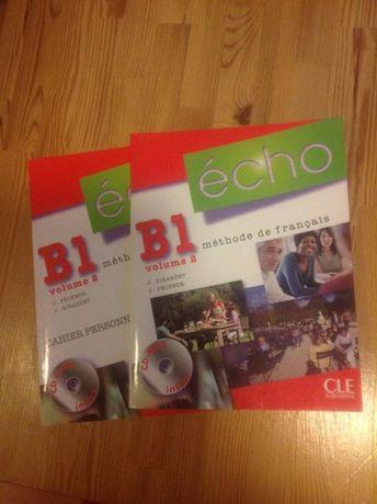 """Podręcznik do języka francuskiego """"Echo"""" B1 vol. 2 z CD + zeszyt ćw."""