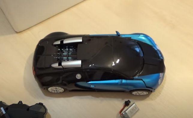 Робот-машина Машинка-трансформер Bugatti Robot Car на пульте