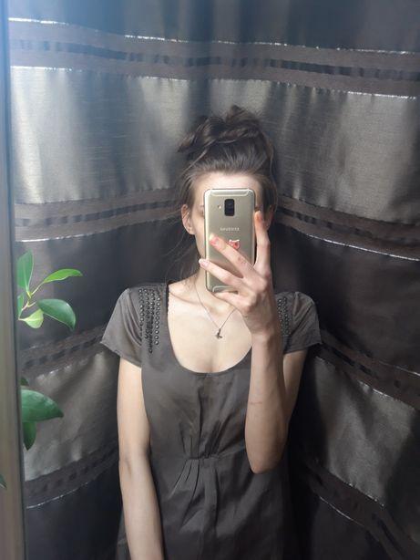 Sukienka S Oliwier jedwab bawełna