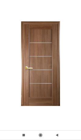 Дверное полотно  Мира золотая ольха со стеклом(межкомнатные двери)