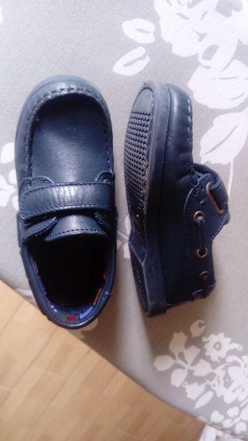 Sapato criança em pele, azul, n.23